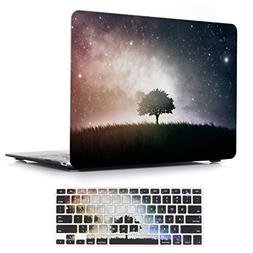 iCasso 2 in 1 Macbook Air 13 Inch Case Rubber Coated Glossy