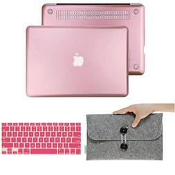 IC ICLOVER 3 In 1 Bundle Macbook Pro 13 Inch Rose Gold Rubbe