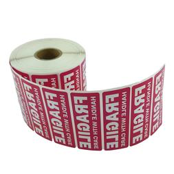 1 Roll 1 x 3 FRAGILE HANDLE WITH CARE Stickers  - Waterproof