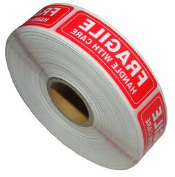 1 Roll 1000 1 x 3 FRAGILE HANDLE WITH CARE Stickers, Easy Pe
