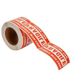 """1 Roll 2"""" x 3"""" Fragile Handle With Care Stickers Labels,"""