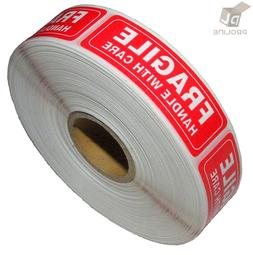 1 Roll 1000 1 x 3 FRAGILE HANDLE WITH CARE Stickers Labels,