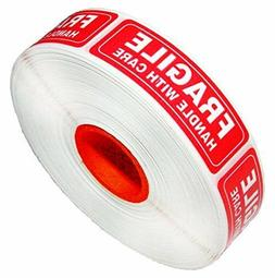 1 x 3 FRAGILE HANDLE WITH CARE Stickers Labels  1,6,54 rolls