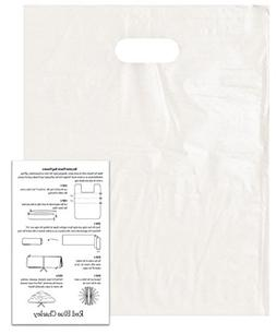 100 Frosted 9x12 Die Cut Handle Bags 2.25 mil with Craft Ins