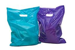 "Merchandise Bags 16x18: 100 Purple and Teal 16x18"" Extra Thi"