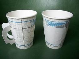 50 piece 8oz Hot coffee water paper cups with Fold-able hand