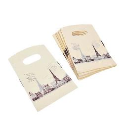 100pcs Yellow Eiffel Tower Packaging Bags Plastic Shopping B