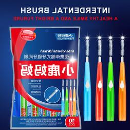 10pcs Adults Interdental Brush Clean Between Teeth Dental Fl