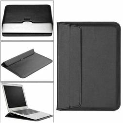 "For 11"" 13.3"" 15"" inch Slim Leather Notebook Laptop Sleeve B"