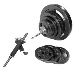 110 LB Barbell Weight Set - with Dumbbell Handles - CAP - St