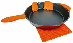 12 inch Pre Seasoned Cast Iron Skillet Frying Pan with Assis
