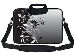 """15.6"""" Laptop Computer Sleeve Bag with 2 Top Pockets & Should"""
