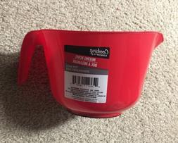 2.5 Quart Plastic Batter Bowl with Handle, Red