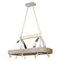 Style Selections 2-Light Brushed Nickel Lighted Pot Rack