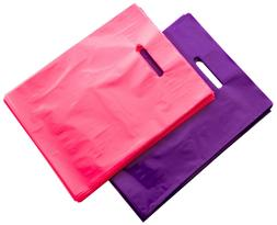 "200 Pink and Purple Merchandise Bags, 9"" X 12"" Recyclable Gl"