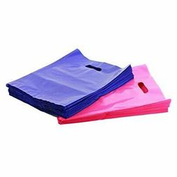 "200 9"" X 12"" Pink and Purple Merchandise Bags, Die Cut Handl"