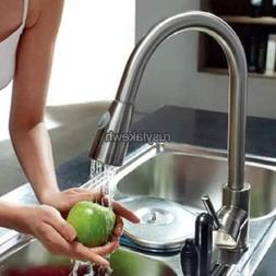 "2016 New 16"" Pull-down Kitchen Sink Faucet Spray Swivel One"