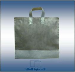 250 lot - Plastic Shopping Bags with Loop-handle  Clear Fros
