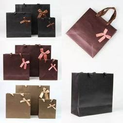 3 Colors Luxury Party Bags Kraft Paper Gift Bag With Handles