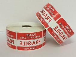 300 Labels 2x3 Please FRAGILE Handle with Care Shipping Mail
