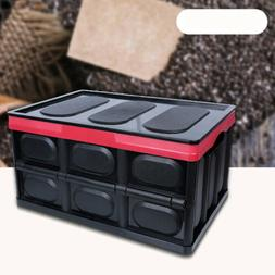 30L Collapsible Storage Bins - Durable Folding Plastic Stack