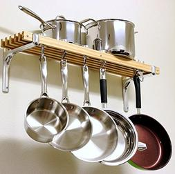 36 By 8-Inch Made With Aluminum And Wood 4 Pan Hooks And 2 S