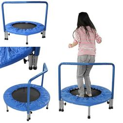 """36"""" Mini Trampoline With Handle Stability Bar Kids Toy  Roun"""
