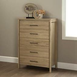 5 drawer chest with metal handles in