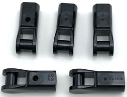 Lego 5 New Black Bar Holder with Handle Pieces