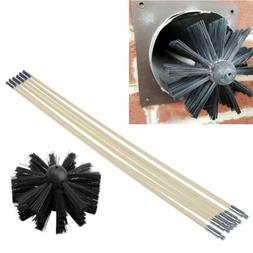 6pcs Nylon Brush With Long Handle Flexible Pipe Rods For Cle
