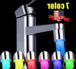 7Color Shower Kitchen WaterTap LED Faucet Intelligent Temper