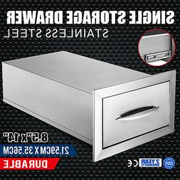 "8.5"" x 14"" BBQ Stainless Steel Single Drawers With Handle Su"