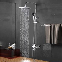 8 inch rainfall shower faucet system