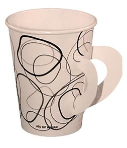8 oz coffee hot cup with handle