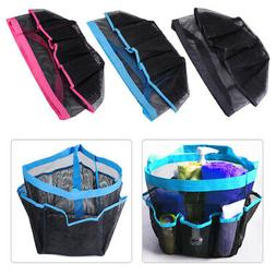 8 Pockets Mesh Quick Dry Shower Caddy Travel Tote with Carry