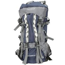 80L Professional Backpack Shoulders Bag Camping Hiking Blue#