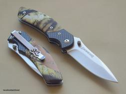 BROWNING CAMO HANDLE LINER-LOCK FOLDING POCKET KNIFE WITH PO