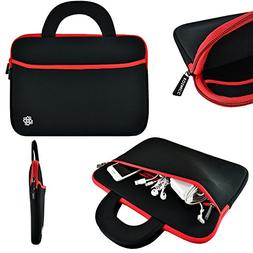 """KOZMICC Black/Red Neoprene Sleeve Case with Handle for 13"""" -"""