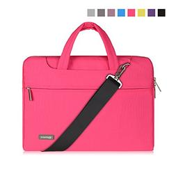 "Qishare 13 13.3"" Pink Multi-functional Business Briefcase Sl"