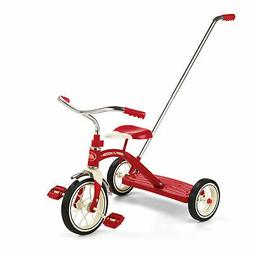 Radio Flyer Classic Tricycle with Push Handle, Red