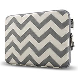 Runetz - 15-inch Chevron Gray Soft Sleeve Case Cover for Mac