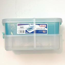 Sterilite 14228604 Stack & Carry 2 Layer Handle Box, 1 - Pac