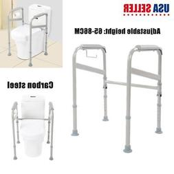 Adjustable Toilet Grab Bar Stand Alone Safety Handicap Rail