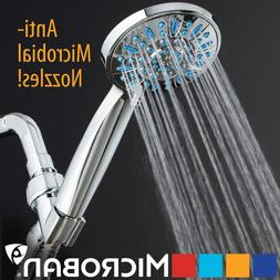 Antimicrobial/Anti-Clog High-Pressure 6-setting Hand Shower
