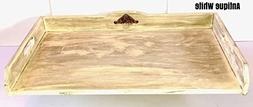 Antique White Noodle Board, stove top cover/tray