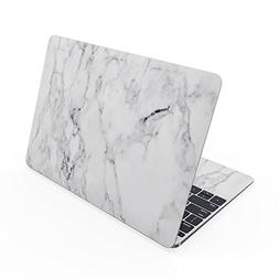 Apple MacBook 12in Skin - White Marble - Sticker Decal Wrap