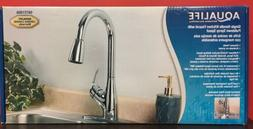 AquaLife Single Handle Pull-Down Kitchen Faucet with 2 Spray