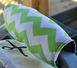 baby infant car seat carrier handle cushion lime green chevr