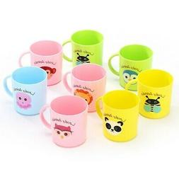 Baby Kids Plastic Drinking Cups Cartoon Print Resuable Drink
