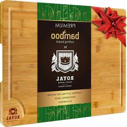 Bamboo Wood Cutting Board for Kitchen, Butсher Block with H